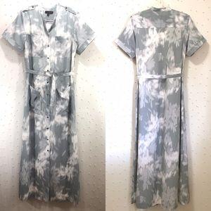Banana Republic Print Utility Shirt Dress M Tall
